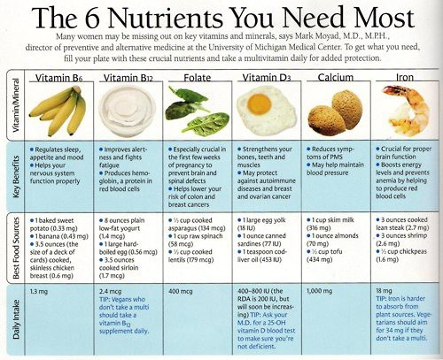 nutrition 6 essential nutrients for women 2ndact health amp testing